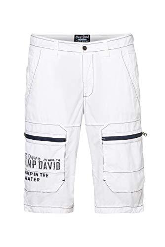Camp David Herren Cargo Bermuda mit Zippertaschen und Artworks