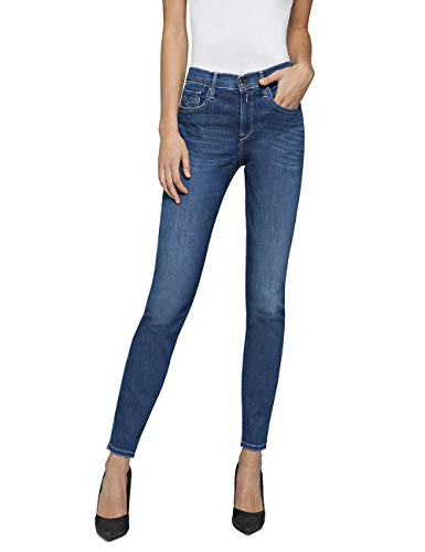 REPLAY Vivy Jeans Slim, Blu (Medium Blue 9), 23W / 30L Donna