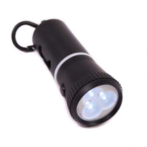 iPet Dispensador de Bolsas de Caca para Perro con Linterna LED   con Regalo de 60 Bolsas de excrementos para Perros y Pilas Incluidas. (Negro)