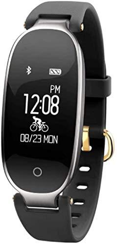 JSL Pulsera de actividad IP67, resistente al agua, reloj inteligente con esfigmomanómetro de frecuencia cardíaca, pulsera inteligente con podómetro