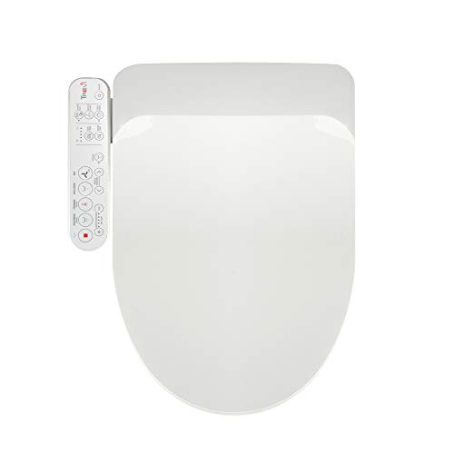 Korea-Made Trevi Bidet Toilet Seat, Fits Elongated White Seat, Warm Air Dryer, Rear Wash Front Wash, Stainless Steel Nozzle, Strong Wash, Nozzle Oscillation and Pulse [3600]