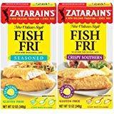 Zatarain's Fish Fry Mix Variety 2 Pack – Includes -1 Box Seasoned Breading Mix, 12 oz, and 1 Box Crispy Southern Breading Mix, 12 oz