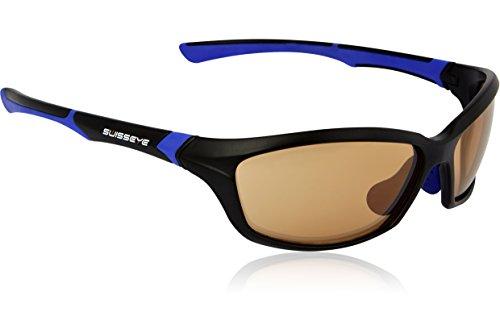 Swiss Eye Sportbrille Drift, Black Matt/Blue