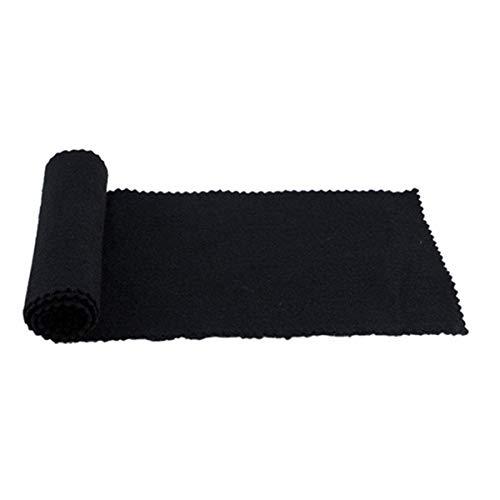 Winwinfly Klaviertastatur Tuch Staubdicht Feuchtigkeitsschutz Doppelseitige Schutz Wartung Abdeckung (Schwarz)