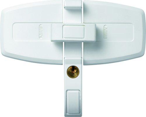 ABUS Fenster-Zusatzsicherung DFS95 AL0125 - Sicherung für Doppelflügelfenster, gleichschließend - ABUS-Sicherheitslevel 10 - 31719 - Weiß