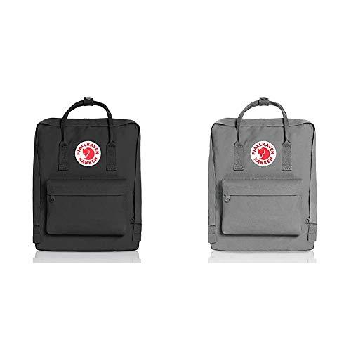 Fjällräven Kånken 23510-550 Unisex Waterproof Outdoor Hiking Backpack 38 x 27 x 13 cm, 16 Liter Black & kpack