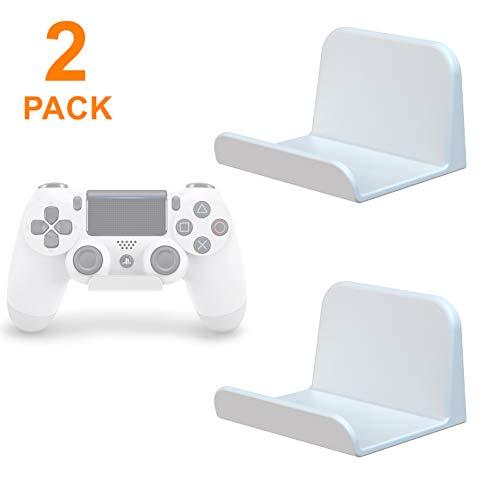 sciuU Wandhalterung für Kopfhörer / Controller, [2 Stück] Halter, Selbstklebende 3M Kleiderbügel (inbegriffen), Universal Hook Zubehör für Gamepad auf XBox / PS4 / Nintendo, ohne Schrauben - Weiß