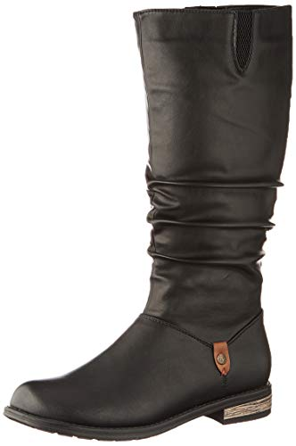 Rieker Damen 91191 Hohe Stiefel, Schwarz (schwarz/Brown 00), 39 EU