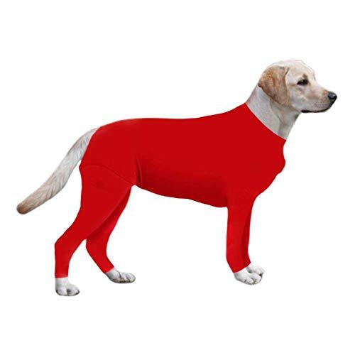 Qlans Haustier-Hundepullover, Hunde-Strampler, Schutzhemd für Hunde nach der Operation, Anzug nach der Operation