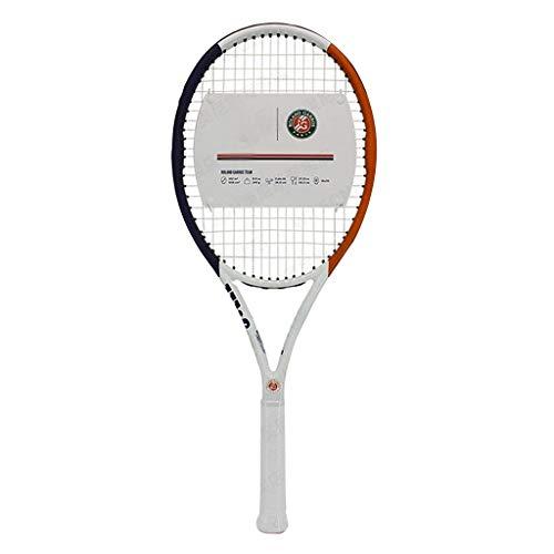 Raquetas Tenis Integrada En Carbono Hombres Y Mujeres Tenis Profesional para Principiantes Equipamiento Deportivo De Tenis (Color : Blanco, Size : 27in)