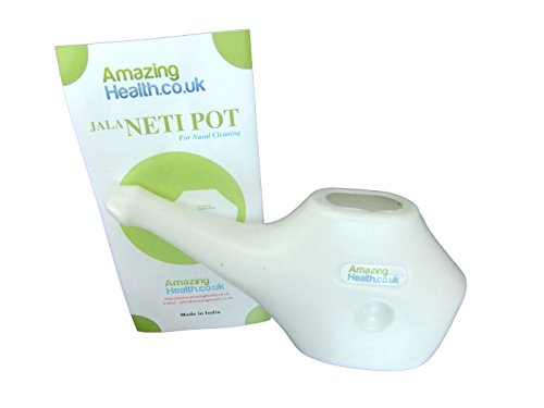 Neti Pot for Nasal Flushing with Guidance leaflet by Amazing Health