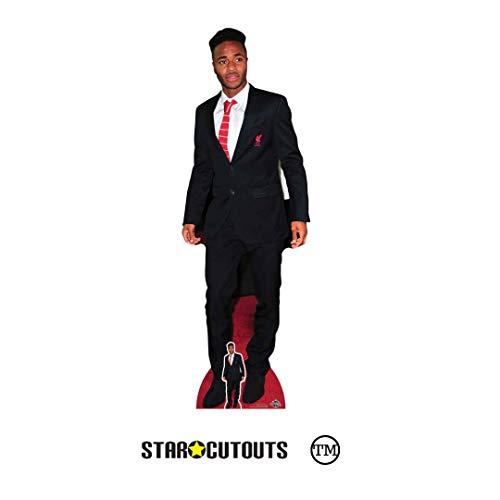 STAR CUTOUTS CS809 Raheem Sterling Fußballer in Lebensgröße, inklusive Mini-Pappaufsteller, Höhe 172 cm, Mehrfarbig