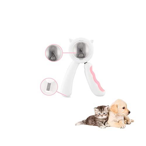 YINLING Cortaúñas para Mascotas, Cortaúñas A Prueba De Salpicaduras para Gatos Y Perros, Herramientas para El Cuidado De Mascotas,Rosado