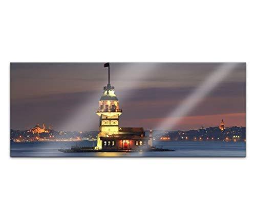 Acrylglasbild 100x40cm Skyline Istanbul Moschee Wasser Türkei Acrylbild Acryl Bild UV Druck Acrylglas Acrylglasbilder 14G352