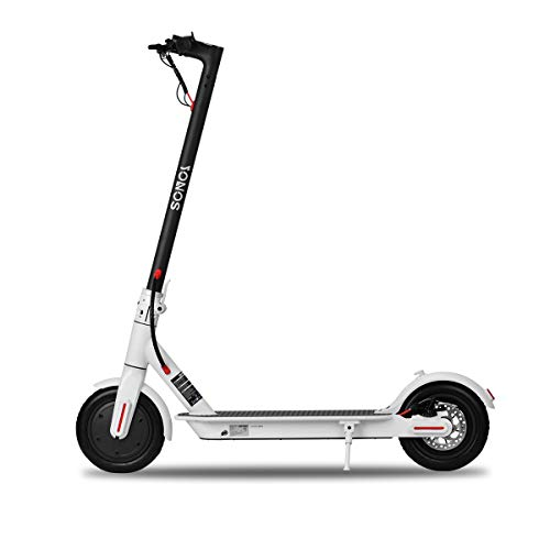 Cheapest Prices! COZYSWAN Electric Scooter, 350W Motor Adult Electric Scooter with 8.5 Solid Tires ...