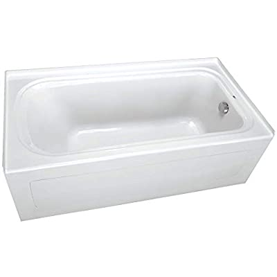 """PROFLO PFS6636RSKWH PROFLO PFS6636RSK 66"""" x 36"""" Alcove Soaking Bath Tub with Skirt and Right Hand Drain - Less Drain Assembly"""