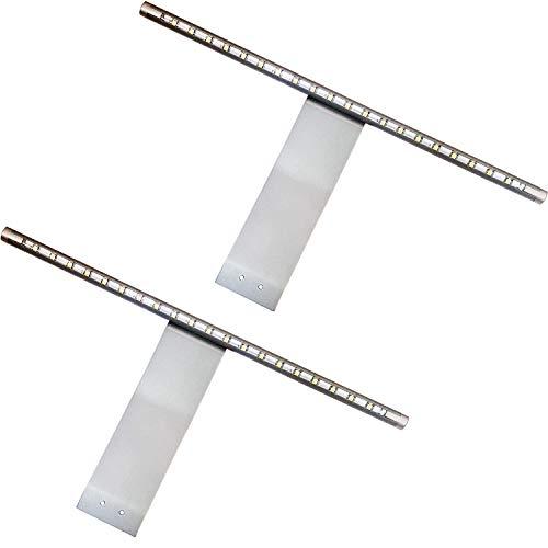 2 x överskåp LED-ljus & drivrutinsats | COOL VIT Belysningsstråle | Aluminium | Kök skåp Downlight– Badrum sminkspegel spotlight | Perfekt för garderob, lådor och enheter, läslampa
