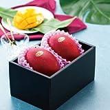 マンゴー みやざき完熟マンゴー 赤秀 2Lサイズ 350g以上×2玉 宮崎県産 JA宮崎経済連 母の日 父の日 プレゼント