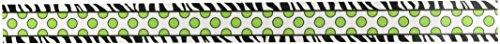 Teacher Created Resources Zebra Green Dot Double-Sided Border Photo #2
