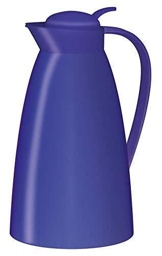 alfi 0825.255.100 Isolierkanne Eco, Kunststoff gefrostet Royal Blau 1,0 l, 12 Stunden heiß, 24 Stunden kalt