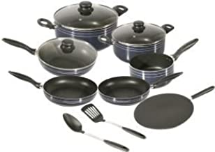 Royalford Cookware Set, 12 Pieces, Blue, RF5858