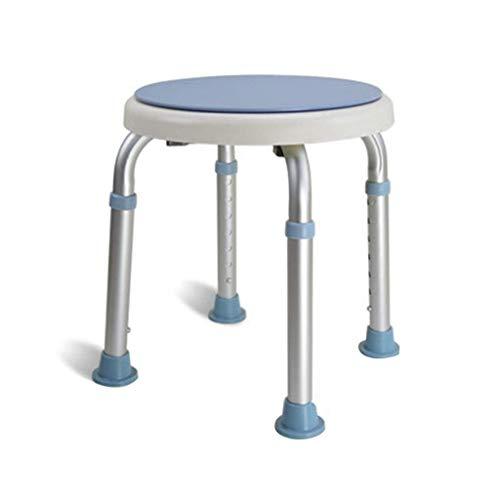 ZHAOJYZ Household Necessities Badkruk senioren badkamer douche kruk moederschap badkuip stoelen van aluminium rond en draaibaar badkamerstoelen belasting 130 kg