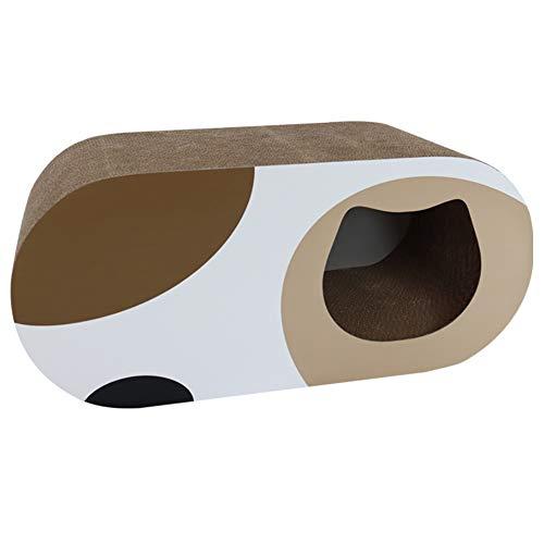HYY Kratzbrett für Katzen,Katzen Tunnel aus Paper -Kratzmöbel aus Karton -...