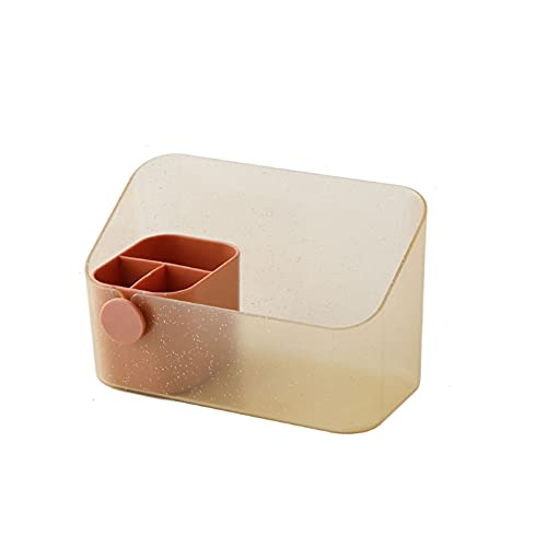 KKJIA Caja Organizadora De Maquillaje Caja De Almacenamiento para Gabinete con Espejo Almacenamiento Multifunción para Escritorio Baño Tocadores Y Almacenamiento En Espacios Estrechos En Armarios E