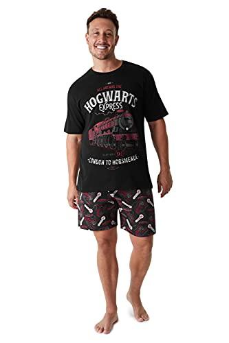 HARRY POTTER Pijama Hombre, Pijamas Hombre Cortos De Algodon, Regalo Hombre Original, Tallas M, L,...