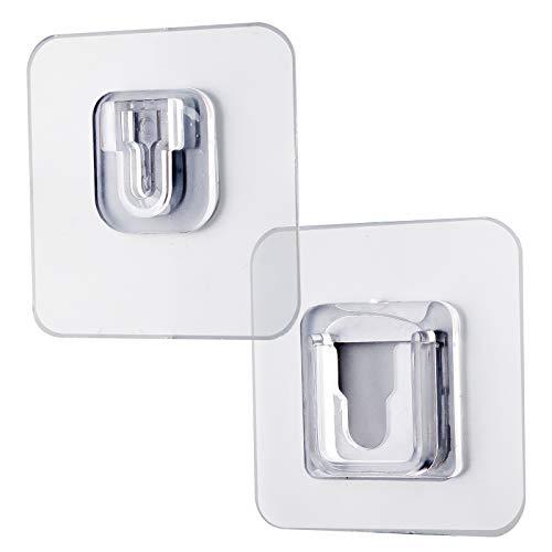 SAVITA 20 Sets Doppelseitige selbstklebende Wandhaken, selbstklebende Haken zum Aufhängen, Hochleistungs-, Mehrzweck-, wasserdicht und ohne Stanzen für Bad und Küche