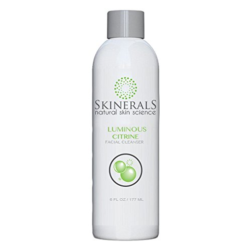 Skinerals Best Facial Cleanser Luminous Citrine with Natural and Organic Ingredients Face Soap Charcoal Enriched to Wash and Scrub Your Skin