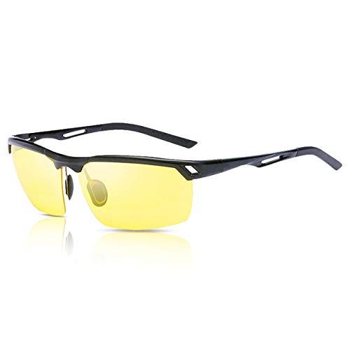 Hootracker Gafas de Visión Nocturna Polarizadas Gafas de Sol Visión Nocturna Antideslumbrante Protección UV400 Conducción Pesca Disparos Esquí de Caza Deportes al Aire Libre