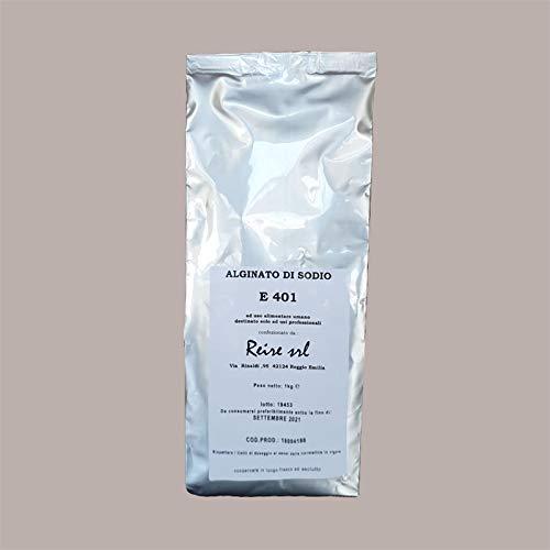 LUCGEL Srl 1 Kg Alginato Di Sodio E401 Addensante Emulsionante Stabilizzante Alimentare Pasticceria destinato solo ad USI PROFESSIONALI