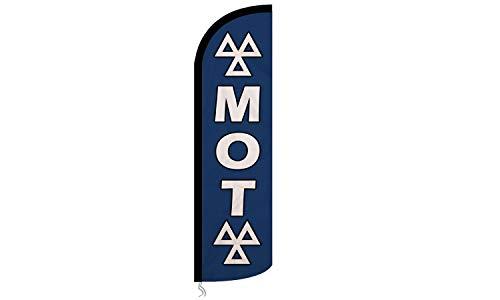 Midland MOT Logo Azul Publicidad Pluma Playa Bandera & Polo y Base MOT Test Cebtre, Small Advertising Flag (Flag Only) 55 x 200 cm