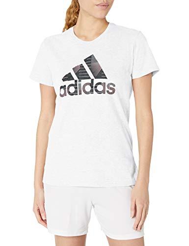 adidas Camiseta deportiva para mujer. - GUR53, playera deportiva con insignia., S,...