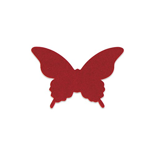 Elfenstall 3D Papier Wandsticker Schmetterling 20 Stück Farbe Rot