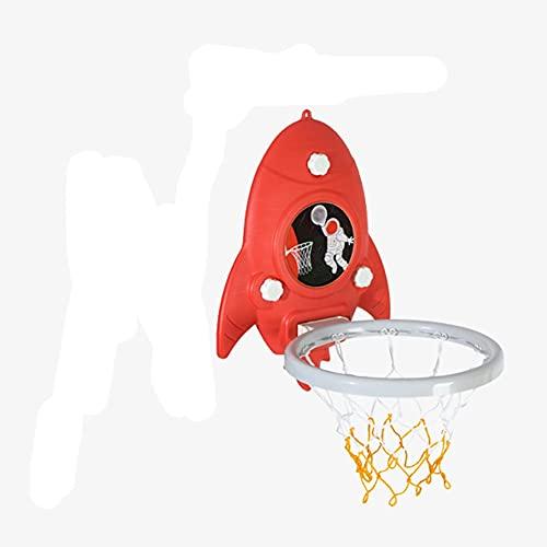 MHCYKJ Canasta Baloncesto Interior Puerta Mini Aro De con Tablero Montado En La Pared Hogar Oficina Dormitorio Juego para Niños