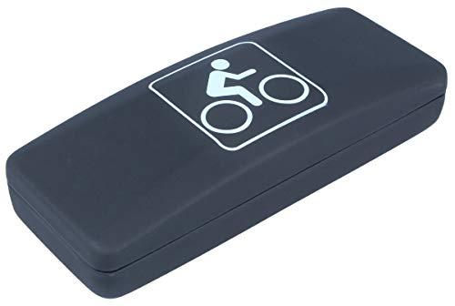 Sportliches Softtouch-Hartschalenetui mit Fahrrad-Symbol