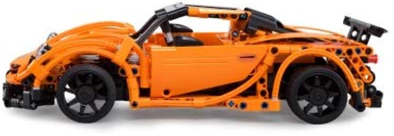 Meiyiu DIY Remote Control Building Blocks Electric Sports Car for Kids