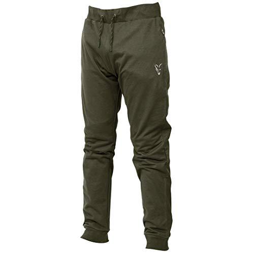 Fox Collection Green/Silver LW Jogger - Hose für Angler, Angelhose für Karpfenangler, Jogginghose, Anglerhose zum Angeln, Größe:S