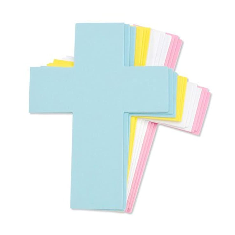Set of 24 Pastel Foam Crosses