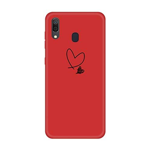 DSRLO Custodia in Silicone per Samsung Galaxy A30 A50 Cover per Telefono Verniciata per Samsung M10 M20 M30 A10 A20 A40 A60 A70 A50 Coque