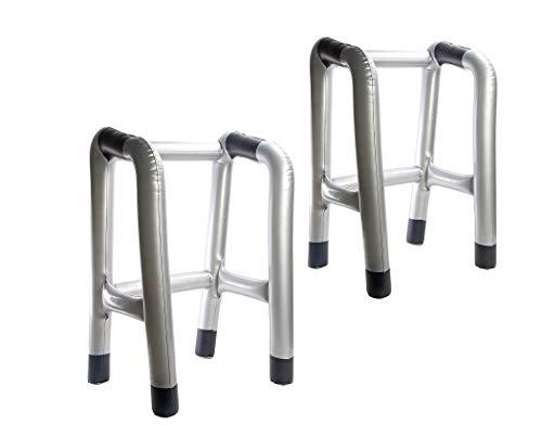 BigDean 2er Pack Aufblasbare Gehhilfe, Rollator, Gehgestell Scherzartikel Geschenk für ältere