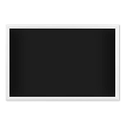 U Brands Magnetic Chalkboard, 30 x 20 Inches, White Wood Frame (2073U00-01), Black