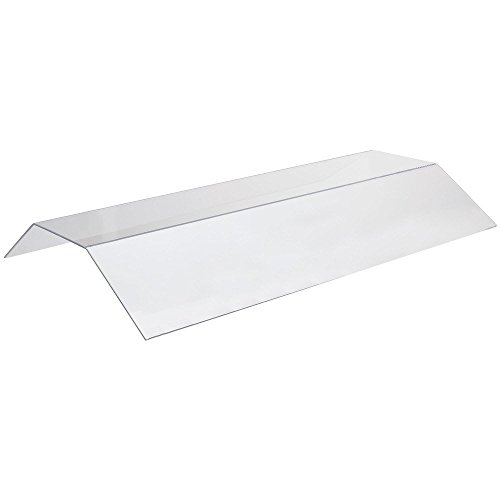 Cal-Mil 774-S Suspended Sneeze Guard, Double Face, 72' Width x 30' Diameter x 6' Height, Clear
