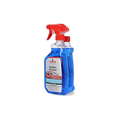 Scheiben-Entfroster Sprühflasche 1x500ml + 1x500ml Nachfüllflasche, Scheiben-Enteiser-Spray, Pumpzerstäuber, wirksam bis -55° C, verhindert Wiedervereisung