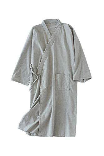 Camisones De Hombre Albornoz Sudor Vaporizador Kimono Japonés Yukata Pijamas Qgrey S