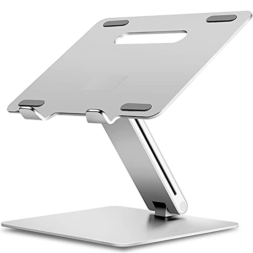 Viozon Laptop Stand, Foldable Laptop Riser Notebook Holder Stand, Ergonomic, Aluminum Laptop Mount, Compatible with MacBook Air Pro, Dell XPS. Fits Up to 17 Inch Laptops(AP-2VS)