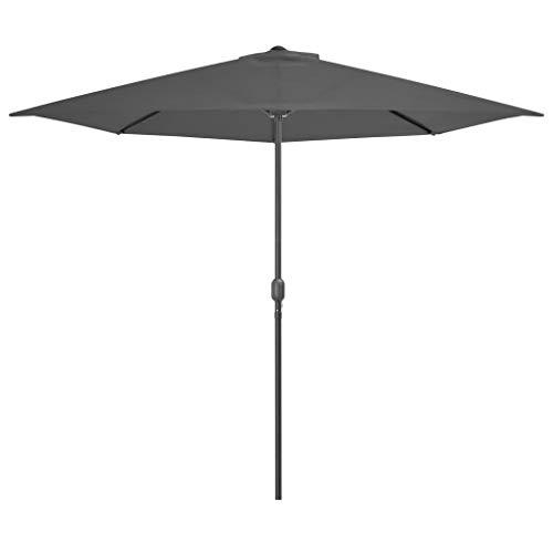 Parasol d'extérieur avec mât en aluminium 300x150 cm Anthracite