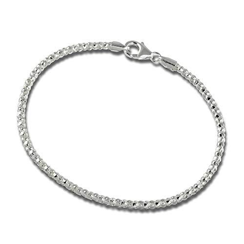 SilberDream, SDA2178J 925, braccialetto a catena da donna, in argento sterling, da18,5cm